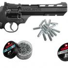 Pack Crosman Vigilante Revolver Cal.4.5 + 250 Plombs Gamo Pro Magnum + 500 Billes Gamo BBS