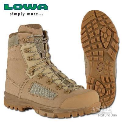 top ! chasse pèche randonnée chaussures lowa elite desert taille 44  !