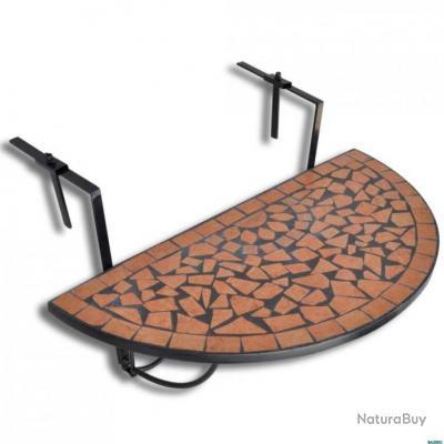 cuite Terre balcon Table de Demi suspendue circulaire BedorxCW