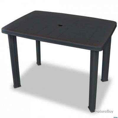 Table de jardin 101 x 68 x 72 cm Plastique Anthracite
