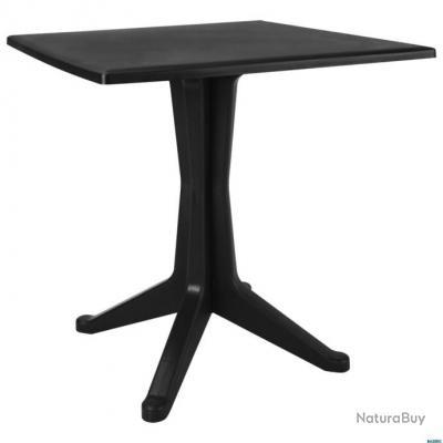 Table de jardin Anthracite 70x70x71,7 cm Plastique