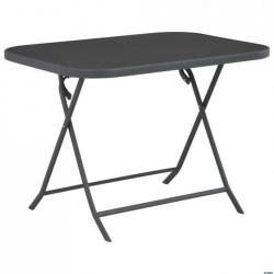 Table de jardin pliable 100x75x72 cm Verre et acier - Tables ...