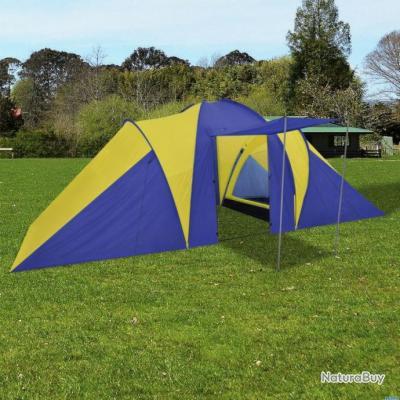 c27fe3d62c023 Tente de camping 6 Personnes Bleu marin/Jaune - Tentes (5691222)