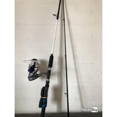 1 ensemble silure 2,40 m 80 / 150 gr connect sea  boat.moulinet surf 370 zebco Pezon et Michel .