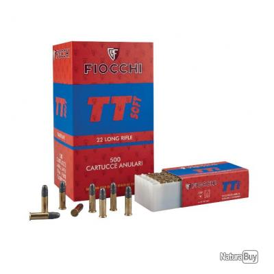 Boite de 50 Balles 22LR Fiocchi TT Soft LRN 40 Grains