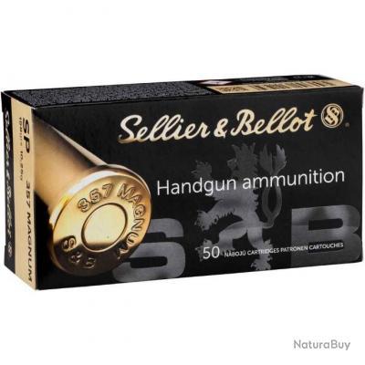 Munitions SELLIER BELLOT Cal.357mg Demi-blindée SP 10,2g par 500