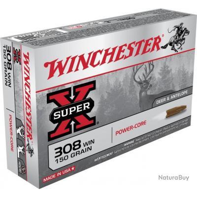 Munitions Winchester Power Core cal.308win 150gr 9,72g par 20