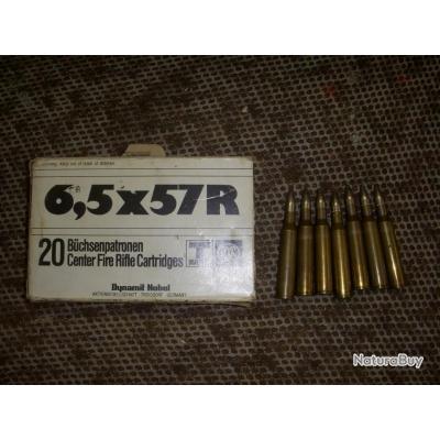 boite de 7 cartouches RWS de calibre 6,5x57R
