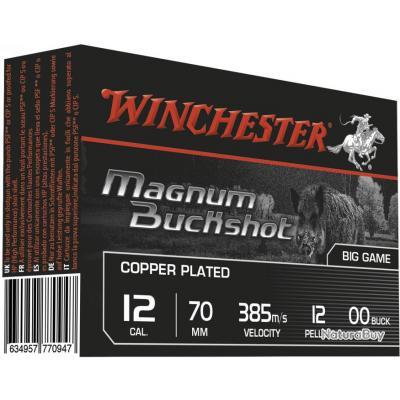 Cartouches Winchester chevrotines cuivrées Haute vitesse - Cal. 12/70