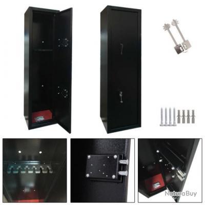Coffre-fort armoire à fusils 6 armes // protection sécurité chasse tir munitions carabine pistolet