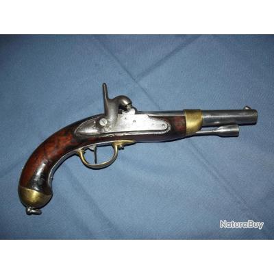 Beau pistolet de cavalerie 1822 T Bis construit neuf (Manufacture Impériale de Mutzig)