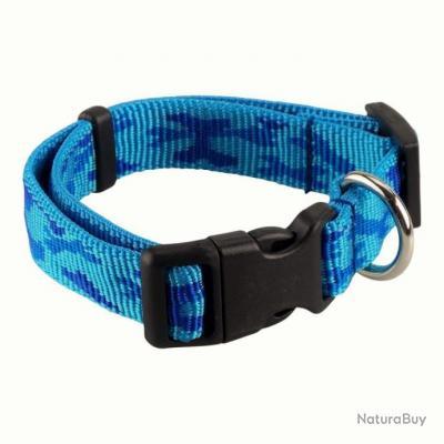 collier nylon camo bleu 20 mm - jokidog