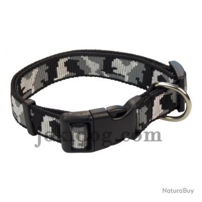 collier nylon camo noir 20 mm - jokidog