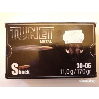 1 boîte de cartouches TUNET SHOCK 170gr cal. 30-06 DESTOCKAGE !!!