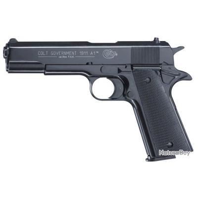 Pistolet 9 mm à blanc Colt Government 1911 A1 bronzé