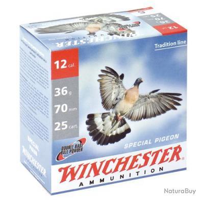 Cartouches de chasse Winchester spécial Pigeon Cal 12 70