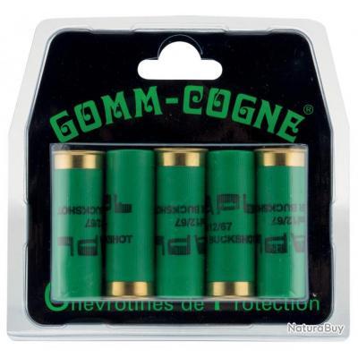 Cartouches de chevrotines caoutchouc Gomm-Cogne - Cal.16/67-MD423