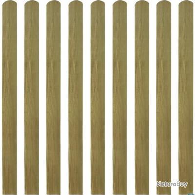 Latte traitée de clôture 30 pcs 120 cm Bois FSC