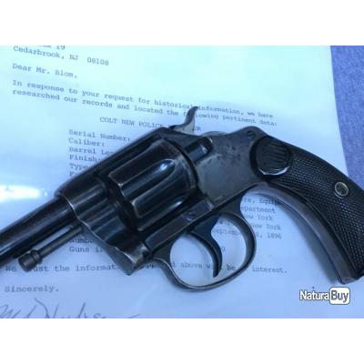 RARE COLT REGLEMENTAIRE NEW YORK POLICE COMMANDE T. ROOSEVELT BLEU !