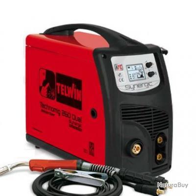 Telwin - Poste à souder inverter MIG-MAG 6,3 kW 230 V 20-250 A - TECHNOMIG 260 DUAL SYNERGIC