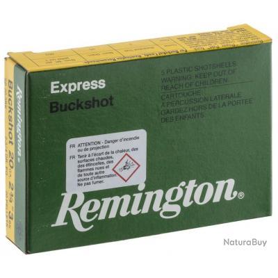 1 BOITE DE 5 CARTOUCHES REMINGTON CHEVROTINES CAL.20/70