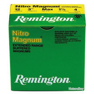 1 BOITE DE 25 CARTOUCHES REMINGTON NITRO MAG LONGUE DISTANCE CAL.12 N°6