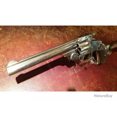 Rare Smith & Wesson Numero 3, Police Coloniale Australienne, avec crosse d'épaule, cal.44 Russian