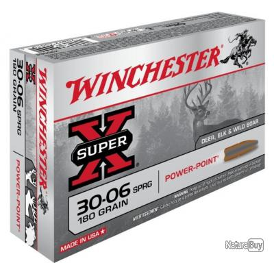 Munitions Winchester Power Point 30-06 180gr 11.66g par 20