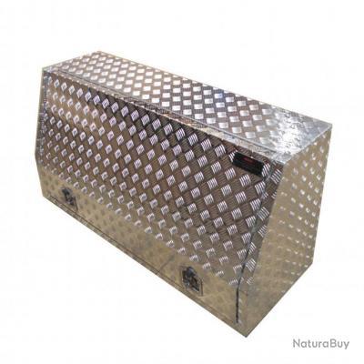 Coffre aluminium oblique 450L Dimensions 1200 x 500 x 800 mm - étagère amovible