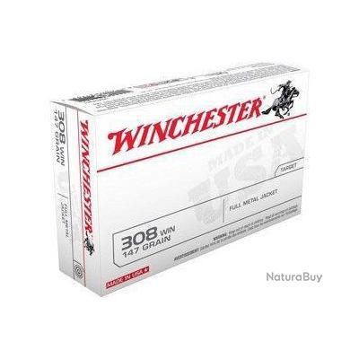 WINCHESTER 308 147grains FULL METAL JACKET FMJ