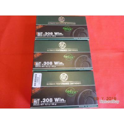 RWS 308Winch, 3 boites, HIT BULLET GREEN ,