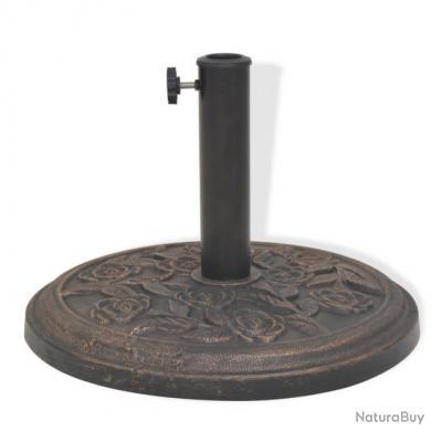 Socle de parasol résine rond diamètre 38 et 48 mm bronze 9 kg 2202076