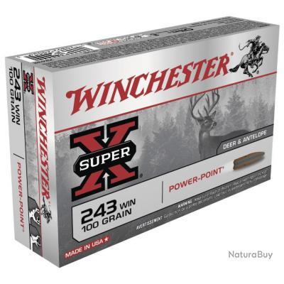 CART. WINCHESTER POWER POINT CAL. .243 WIN 100GR 6,48 G BTE 20
