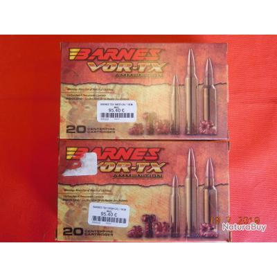 Balles calibre 7 REM Barnes TSX, lot de 2 boites,
