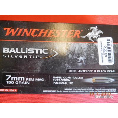 Balles calibre 7 REM Winchester