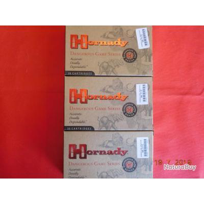 Balles calibre 9,3x62 Hornady SP RP, lot de 3 boites