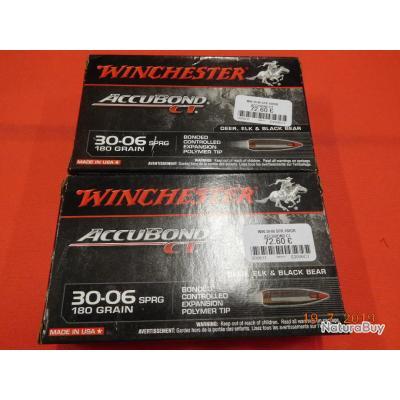 Winchester 30.06, accubond CT SPR, lot de 2 boites