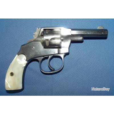 Revolver Hopkin's & Allen XL8  double action 32 centre fire patent 1871/88 (crosse nacre)
