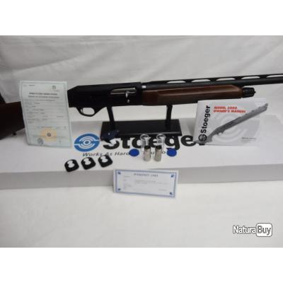 N3080- SEMI AUTO STOEGER M 3000 BOIS CAL 12  CAN 71 NEUF!!!PROMO 2019