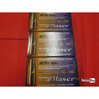 Balles calibre 270 WM Blaser lot de 3 boites