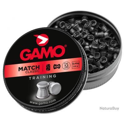 5 boites de Plombs MATCH CLASSIC 4,5 mm - 5500 plombs - GAMO