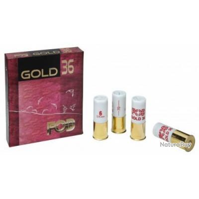 1   BOITE DE 10 CARTOUCHES FOB GOLD 36 CAL.12/70 PLOMB N°8