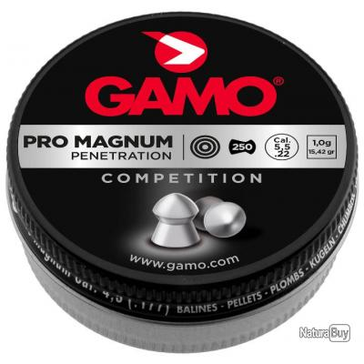 2 Boites Plombs PRO MAGNUM - PENETRATION 5,5 mm - GAMO