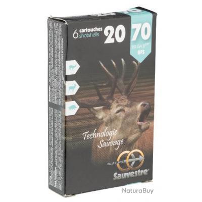 LOT DE 3 BOITES DE 6 CARTOUCHES SAUVESTRE GROS GIBIER CAL.20/70