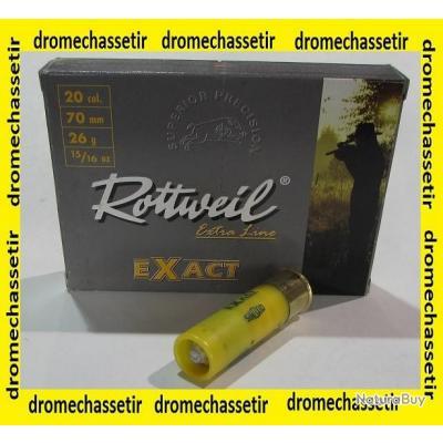 boite de 10 cartouches  Rottweil exact  cal 20/70, 26 grammes