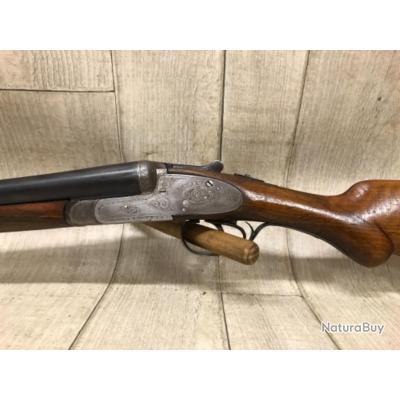 Fusil juxtaposé calibre 12 à platines véritables Artisanal espagnol.