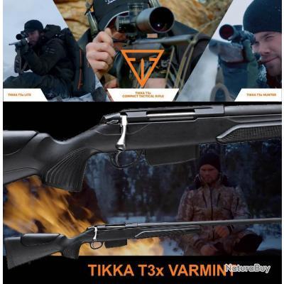 "TIKKA T3X VARMINT GAUCHER ""PROMO BLACK DAY$"" Calibre 30.06 Sprg Canon 60cm"