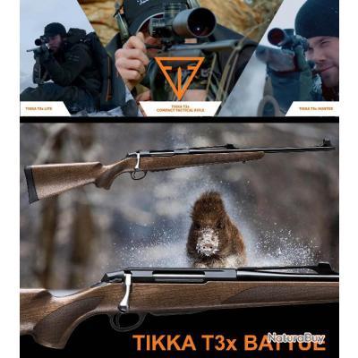 """TIKKA T3X BATTUE """"PROMO BLACK DAY$"""" Calibre 30.06 Sprg Canon 51cm"""