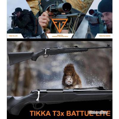 "TIKKA T3X BATTUE LITE ""PROMO BLACK DAY$"" Calibre 30.06 Sprg Canon 51cm"