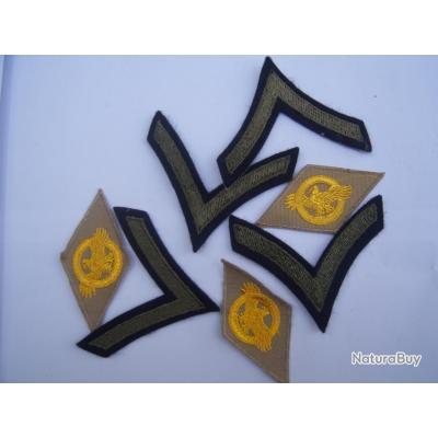 1 LOT INSIGNES US 2 GM 2 DB LECLERC PARA INDO   Patch USA original  2WW   xc